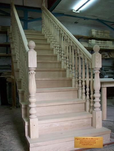 Деревянные лестницы под заказ в Кемерово - main