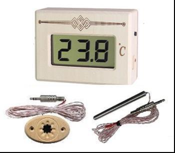 Термометр электронный с выносным датчиком ТЭС Pt в корпусе из липы - main